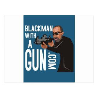 Black Man With A Gun LogoWear Post Card