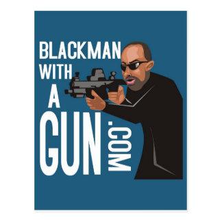 Black Man With A Gun LogoWear Post Cards