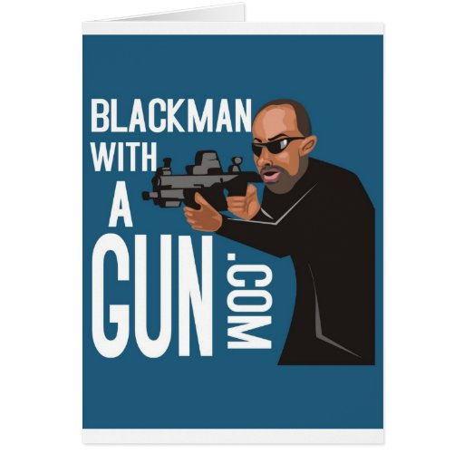 black man with a gun podcast greeting cards