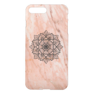 Black Mandala On Rose-Gold Marble iPhone 8 Plus/7 Plus Case