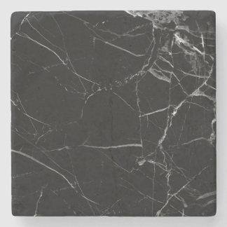 Black marble coaster