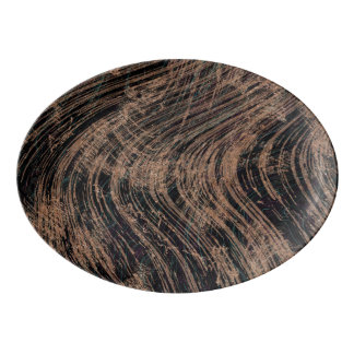 Black Marble design with a touch of mauve Porcelain Serving Platter