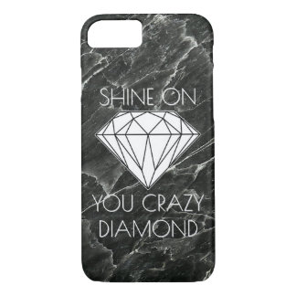 Black Marble Diamond Custom iPhone 8/7 Case