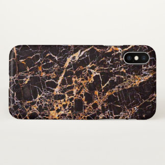 Black marble iphone X case