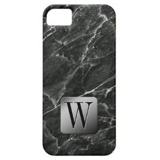 Black Marble Monogram iPhone 5 Covers