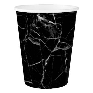 Black Marble Paper Cup
