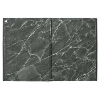 "Black Marble Personalized iPad Pro 12.9"" Case"