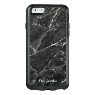 Black Marble Personalized OtterBox iPhone 6/6s Case