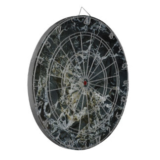 BLACK MARBLE ROCK Dartboard