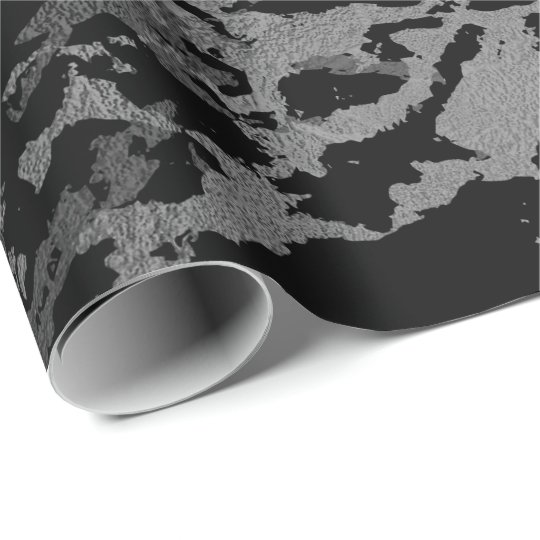 Black Marble Silver Carrara Shiny Deep Gray Wrapping