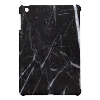 Black Marble Stone Grain/Texture iPad Mini Cover