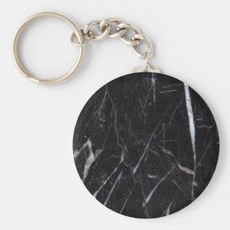 Black Marble Stone Grain/Texture Key Ring