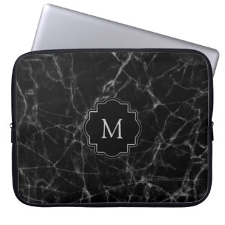 Black Marble Stone MS001 Laptop Sleeve