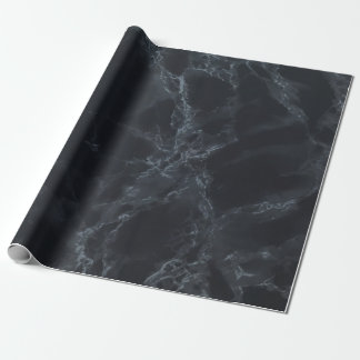 Black Marble Texture Look Wrapping Paper
