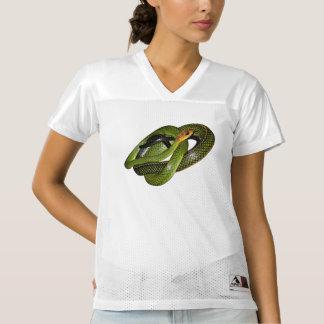 Black-margined Ratsnake or Green rat snake Women's Football Jersey