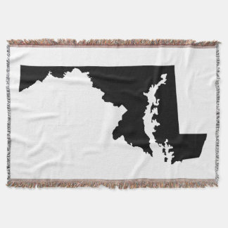 Black Maryland Shape Throw Blanket