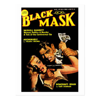 """Black Mask"" Postcard"