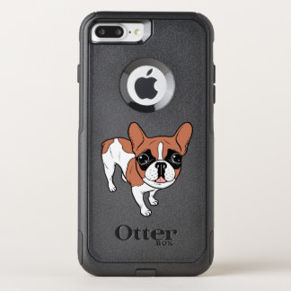 Black Mask Red Pied French Bulldog OtterBox Commuter iPhone 8 Plus/7 Plus Case