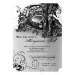 Black Masquerade Mask Ball Costume Halloween 13 Cm X 18 Cm Invitation Card