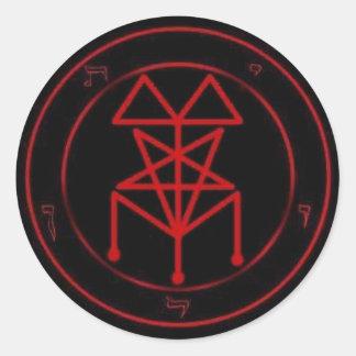 Black Mass Sigil Classic Round Sticker