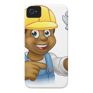 Black Mechanic or Plumber Handyman Case-Mate iPhone 4 Case