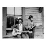 Black Men Playing Guitar, 1902 Post Cards