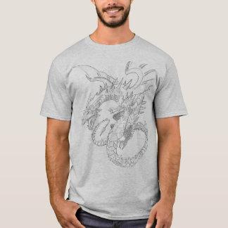 Black Mens Clever Composition Dragon T-Shirt