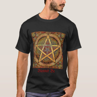 Black Mens, Gold Pentacle T-Shirt