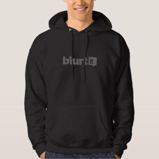 Black Mens Hoodie with Grey Logo