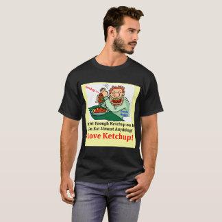 Black Men's T-Shirt I Love Ketchup