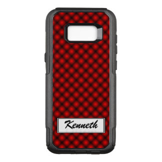 Black Mesh White Balls Moire(T) by Kenneth Yoncich OtterBox Commuter Samsung Galaxy S8+ Case
