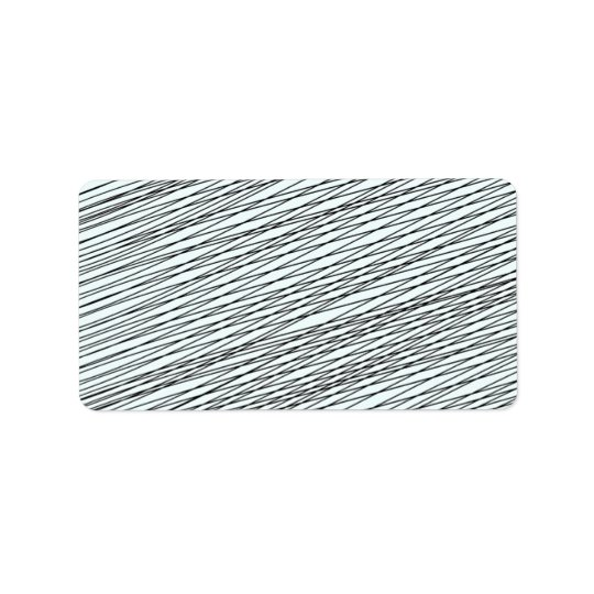 Black Messy lines special gift Address Label