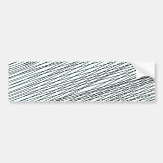 Black Messy lines special gift Bumper Stickers