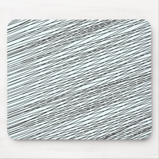 Black Messy lines special gift Mousepad