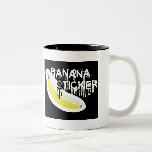 Black Metal Banana Sticker Mug