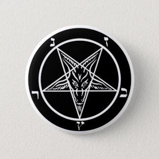 black metal baphomet button-- evil!! 6 cm round badge