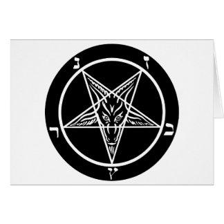 black metal, baphomet, lord of darkness! greeting card