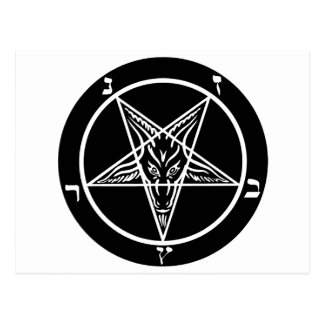 black metal, baphomet, lord of darkness! postcard
