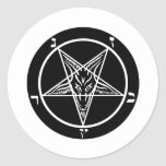 black metal, baphomet, lord of darkness! classic round sticker