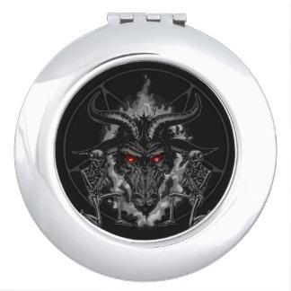Black Metal Baphomet Vanity Mirror