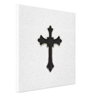 Black Metal Cross Canvas Print