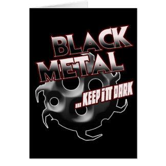 Black Metal music tshirt hat hoodie sticker poster Greeting Card