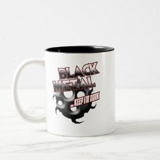Black Metal music tshirt hat hoodie sticker poster Two-Tone Mug
