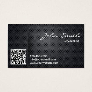 Black Metal QR Code DJ Music Business Card