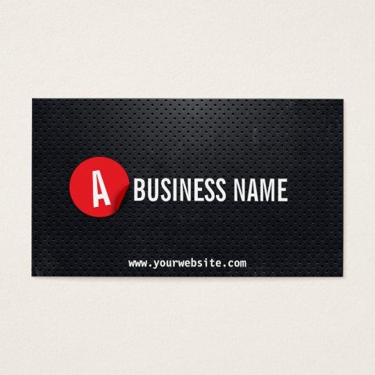 Black Metal Red Label Dispatcher Business Card