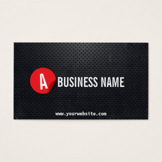 Black Metal Red Label Ski Business Card