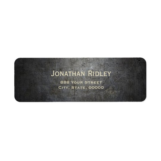 Black METAL Return Address Labels