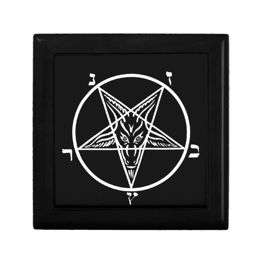 Black metal Satan stash/gift box