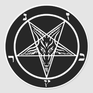 Black metal satanic Baphomet stickers