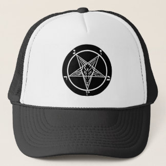 Black metal Satanic trucker hat